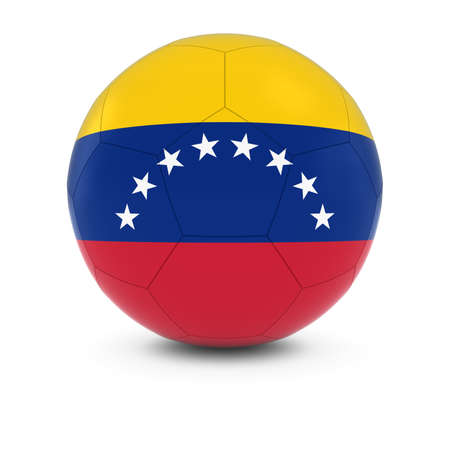venezuelan: Venezuela Football - Venezuelan Flag on Soccer Ball