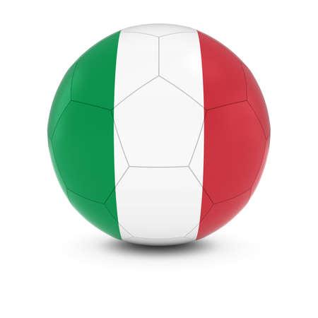soccer team: Italy Football - Italian Flag on Soccer Ball Stock Photo