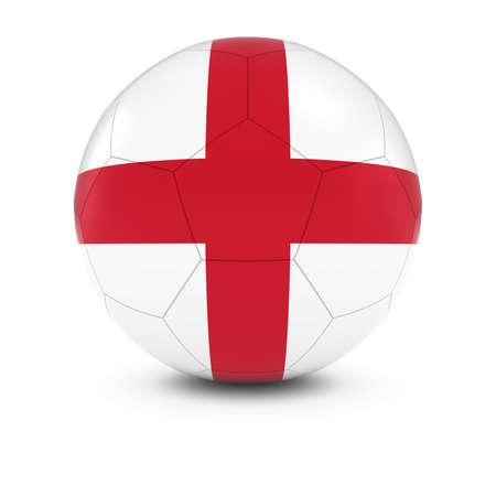 drapeau anglais: England Football - English Flag on Soccer Ball Banque d'images