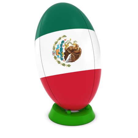rugby ball: México Rugby - México sobre Permanente Pelota de rugby