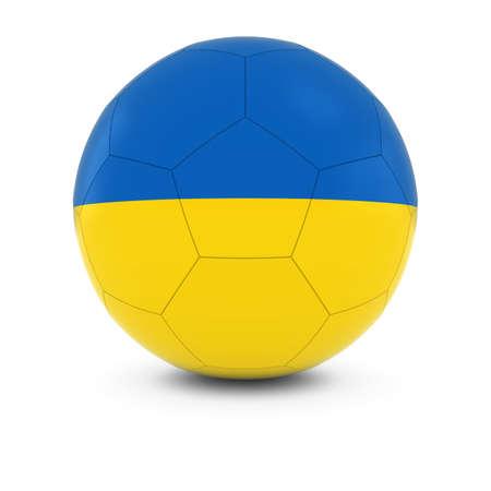 ukrainian flag: Ukraine Football - Ukrainian Flag on Soccer Ball