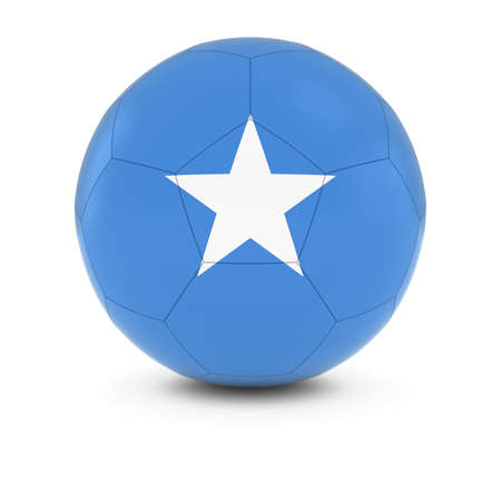 somalian: Somalia Football - Somalian Flag on Soccer Ball Stock Photo