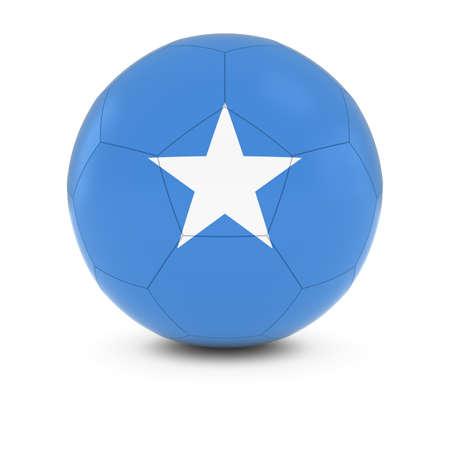 somalia: Somalia Football - Somalian Flag on Soccer Ball Stock Photo