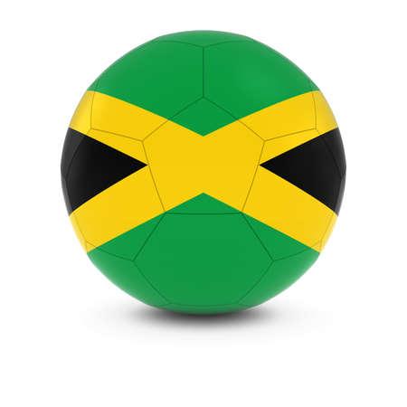 soccer team: Jamaica Football - Jamaican Flag on Soccer Ball