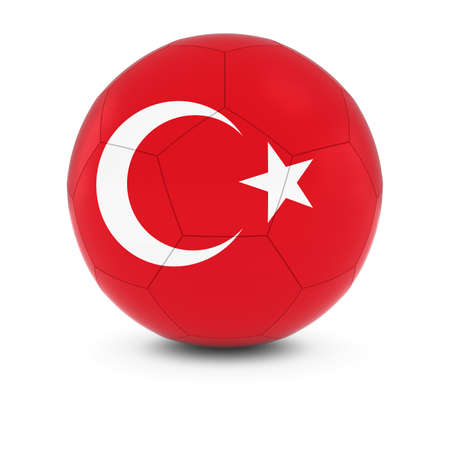 turkish flag: Turkey Football - Turkish Flag on Soccer Ball