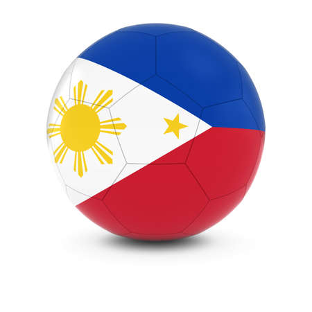 filipino: Philippines Football - Filipino Flag on Soccer Ball