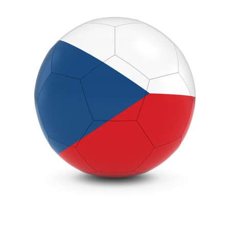 the czech republic: Czech Republic Football - Czech Flag on Soccer Ball