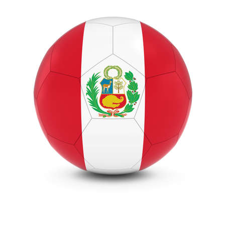 peruvian: Peru Football - Peruvian Flag on Soccer Ball