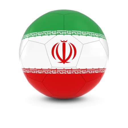 iranian: Iran Football - Iranian Flag on Soccer Ball
