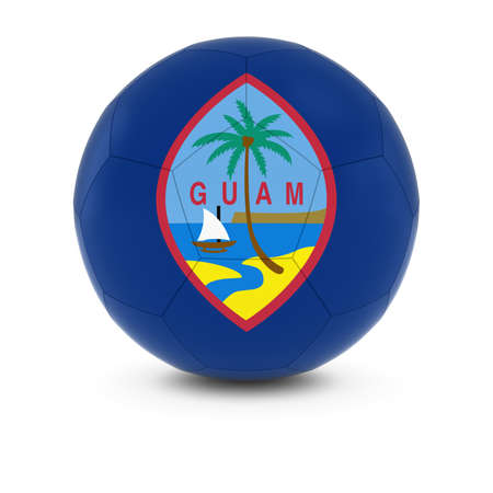guam: Guam Football - Guamanian Flag on Soccer Ball