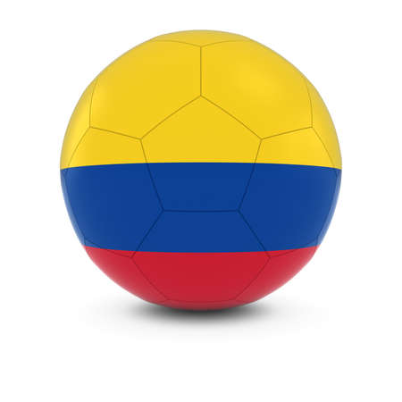 colombian flag: Colombia Football - Colombian Flag on Soccer Ball Stock Photo