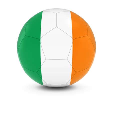 irish flag: Ireland Football - Irish Flag on Soccer Ball Stock Photo
