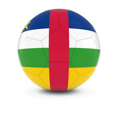 central african republic: Central African Republic Football - Central African Flag on Soccer Ball Stock Photo