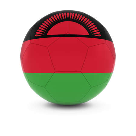 malawian: Malawi Football - Malawian Flag on Soccer Ball
