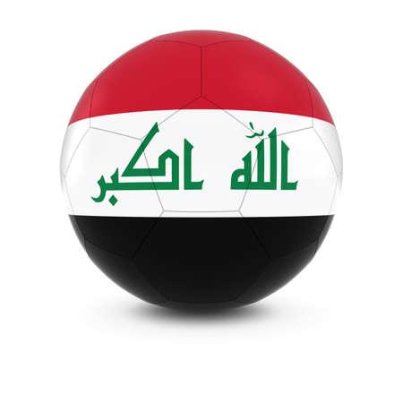 iraqi: Iraq Football - Iraqi Flag on Soccer Ball Stock Photo