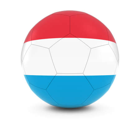 luxembourg: Luxembourg Football - Luxembourgian Flag on Soccer Ball