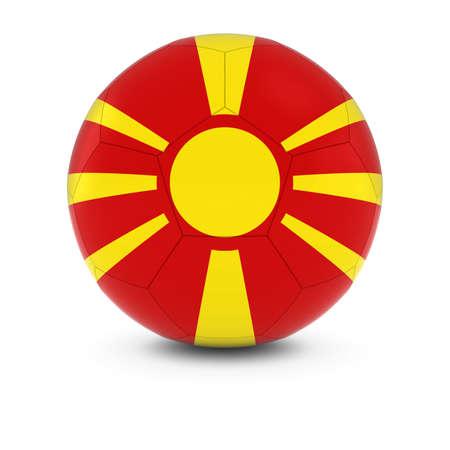 macedonian flag: Macedonia Football - Macedonian Flag on Soccer Ball Stock Photo