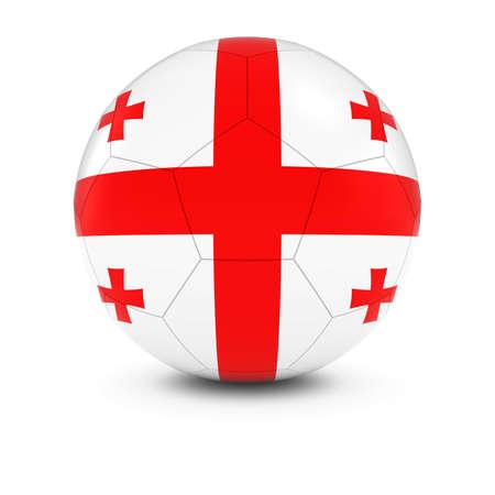 georgian: Georgia Football - Georgian Flag on Soccer Ball