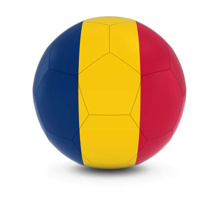 chadian: Chad Football - Chadian Flag on Soccer Ball