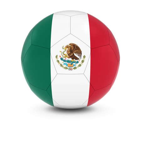 bandera de mexico: México Fútbol - Bandera de México en el balón de fútbol