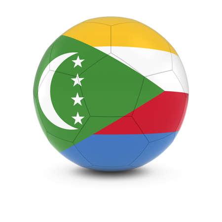 comoros: Comoros Football - Comoran Flag on Soccer Ball