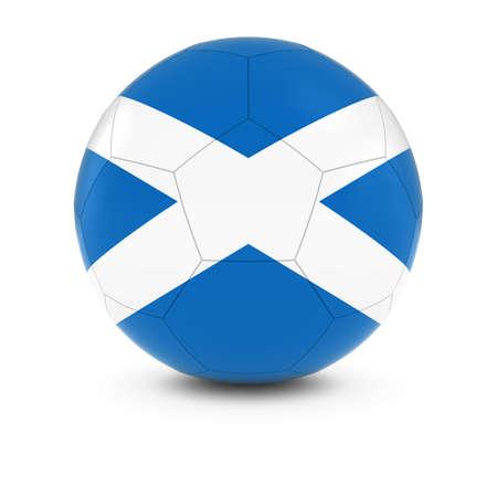 scottish flag: Scotland Calcio - Bandiera scozzese sul pallone da calcio Archivio Fotografico