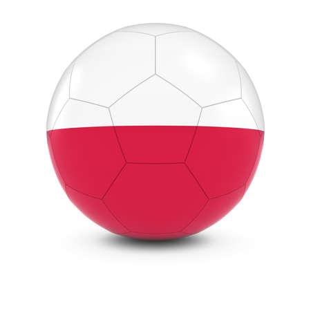 bandera de polonia: Polonia F�tbol - Bandera polaca en el bal�n de f�tbol