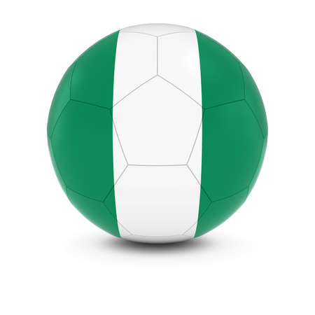 nigerian: Nigeria Football - Nigerian Flag on Soccer Ball