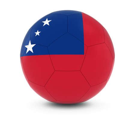 samoa: Samoa Football - Samoan Flag on Soccer Ball Stock Photo