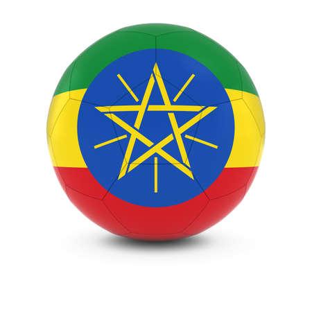 ethiopian: Ethiopia Football - Ethiopian Flag on Soccer Ball Stock Photo