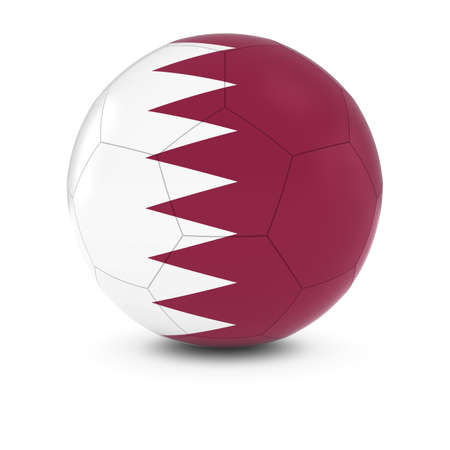 football ball: Qatar Football - Qatari Flag on Soccer Ball