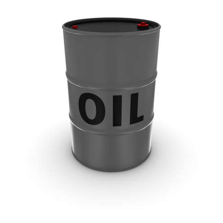 fossil fuel: Isolated Grey Oil Barrel 3D Illustration