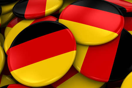 german flag: Pile of German Flag Badges - Flag of Germany Buttons piled on top of each other