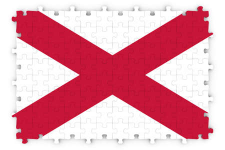 northern ireland: Northern Irish Flag Jigsaw Puzzle - Flag of Northern Ireland Puzzle Isolated on White