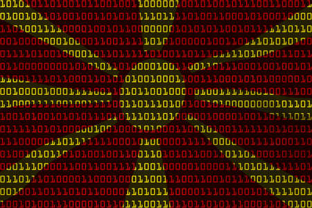 macedonian flag: Macedonian Technology Concept - Flag of Macedonia in Binary Code - 3D Illustration