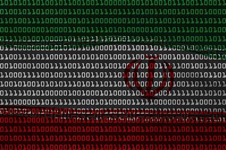 iranian: Iranian Technology Concept - Flag of Iran in Binary Code - 3D Illustration