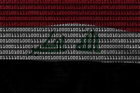 iraqi: Iraqi Technology Concept - Flag of Iraq in Binary Code - 3D Illustration