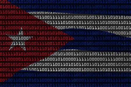 cuban flag: Cuban Technology Concept - Flag of Cuba in Binary Code - 3D Illustration
