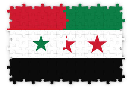 opposition: Syrian and Syrian Opposition Concept Image - Flags of Syria and the Syrian Opposition Jigsaw Puzzle