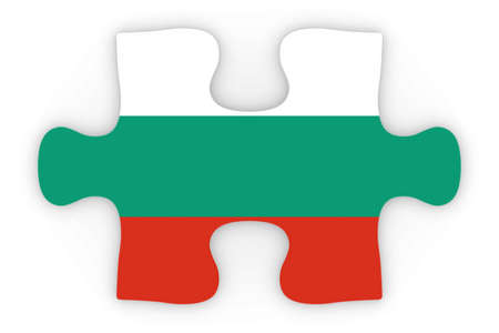 top down: Bulgarian Flag Puzzle Piece Top Down Orthographic 3D Illustration