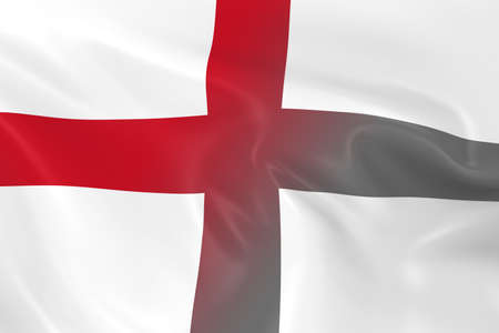 fading: National Decline Concept - Flag of England Fading into Black and White Stock Photo