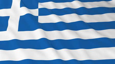 greek flag: Greek Flag HD Background - Flag of Greece 3D Illustration