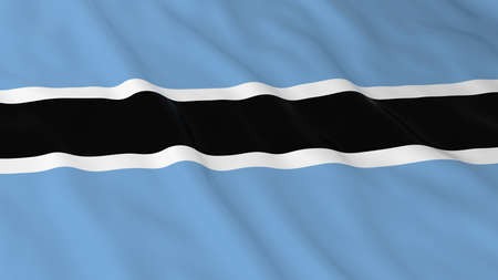 botswanan: Botswanan Flag HD Background - Flag of Botswana 3D Illustration