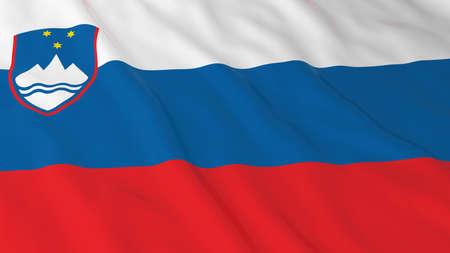 slovenian: Slovenian Flag HD Background - Flag of Slovenia 3D Illustration