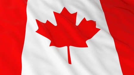canadian flag: Canadian Flag HD Background - Flag of Canada 3D Illustration