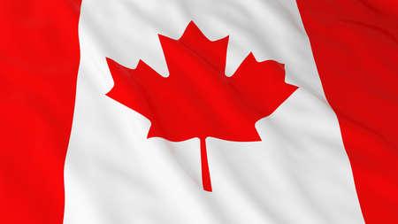 Canadian Flag HD Background - Flag of Canada 3D Illustration