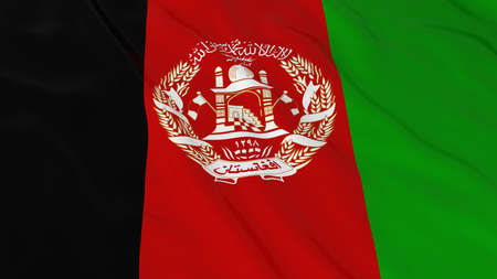 afghan: Afghan Flag HD Background - Flag of Afghanistan 3D Illustration