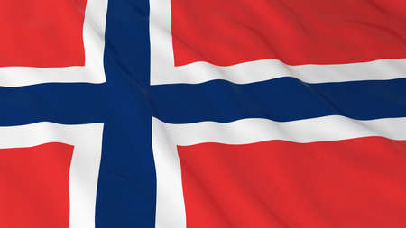 norwegian flag: Norwegian Flag HD Background - Flag of Norway 3D Illustration