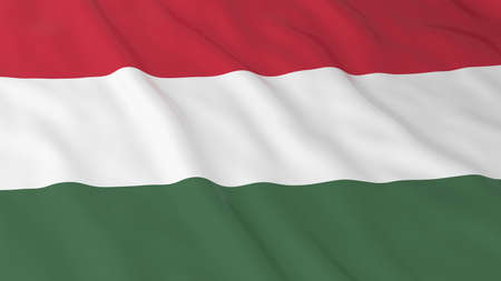 hungarian: Hungarian Flag HD Background - Flag of Hungary 3D Illustration Stock Photo