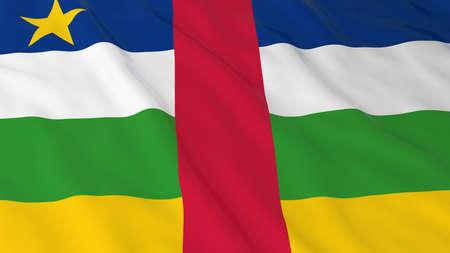 central african republic: Central African Flag HD Background - Flag of the Central African Republic 3D Illustration